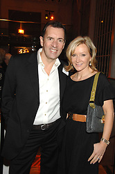 DUNCAN BANNATYNE and his wife JOANNE at the Orion Authors Party held at the Royal Opera House, Covent Garden, London on 11th February 2008.<br />