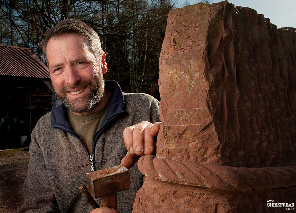 Max Nowell Stone Sculptor<br /> Auldgirth, Dumfriesshire<br /> All Rights Reserved<br /> (C) 2015 Chris Frear Butterfield<br /> 01848 331999<br /> www.frearphoto.co.uk