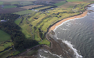 Kingsbarns Golf Club from the air<br /> <br /> Picture Fran Caffrey www.golffile.ie