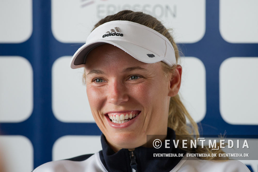 Caroline Wozniacki (Denmark) in interview at the 2017 WTA Ericsson Open in Båstad, Sweden, July 27, 2017. Photo Credit: Katja Boll/EVENTMEDIA.