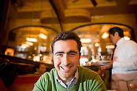31 October, 2008. New York, NY. Spanish matador David Fandila, 27, is here at the Balthazar Restaurant in SOHO. David Fandila, better known in Spain and in the bullfighting world as &quot;El Fandi&quot;, came to New York for the premiere of  &ldquo;The Matador,&rdquo; a documentary about him (released by City Lights). Him and his brother Juan Alvaro (his manager), 31, convinced by their friend Carlos Gil, will partecipate at the New York City Marathon on Sunday, November 2nd. El Fandi began as a matador in 2000 and is now one of the most skilled matadors in the world. <br /> <br /> &copy;2008 Gianni Cipriano for The New York Times<br /> cell. +1 646 465 2168 (USA)<br /> cell. +1 328 567 7923 (Italy)<br /> gianni@giannicipriano.com<br /> www.giannicipriano.com