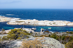 View of The Gulch from Whaler's Lookout in BIcheno, Tasmania.  The Gulch is home to a large breeding colony of terns.