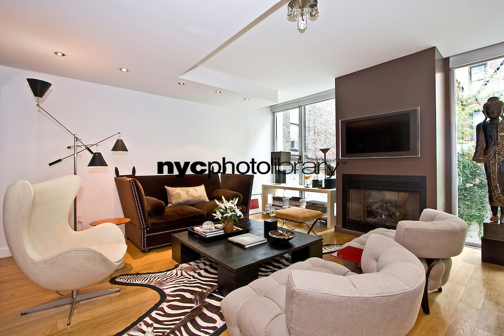 Living Room at 343 West 16th Street