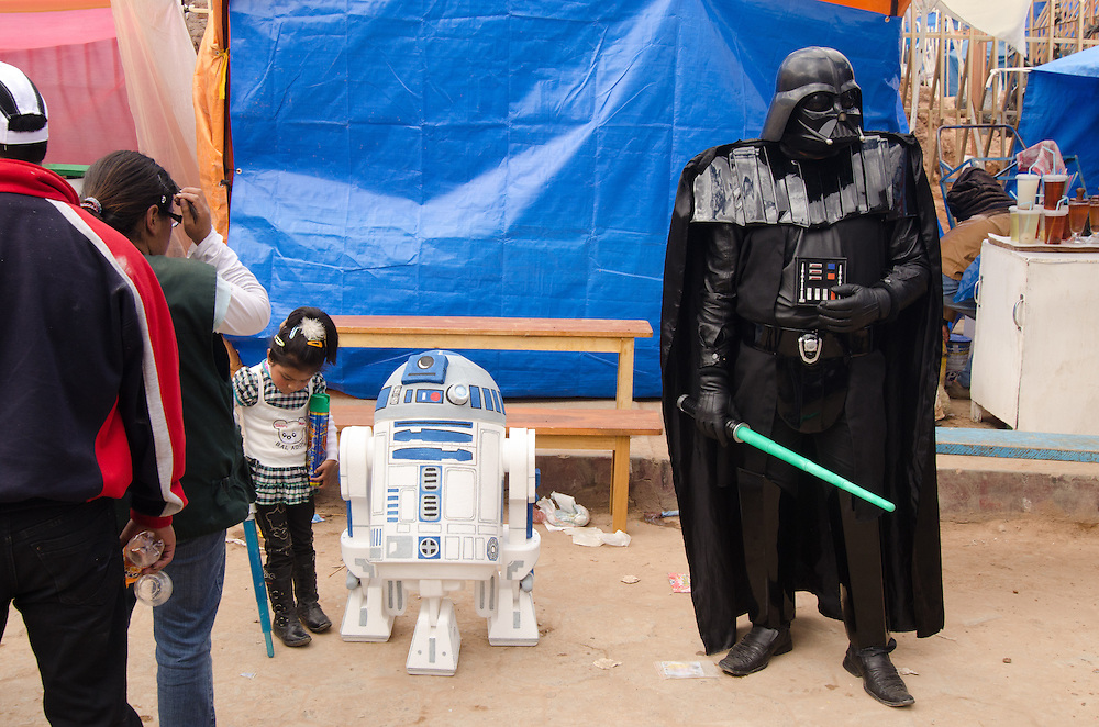 A Darth Vader photo opportunity at Carnival.