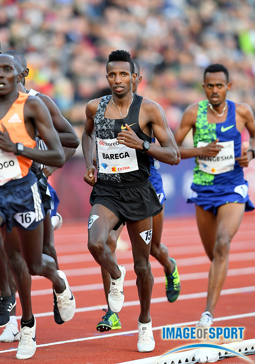 Selemon Barega (ETH) wins the 3,000m in 7:32.17 during the 54th  Bislett Games in an IAAF Diamond League meet in Oslo, Norway, Thursday, June 13, 2019. (Jiro Mochizuki/Image of Sport)