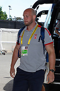 Chris Hill of England arrives at the Rugby League World Cup Quarter-Final match between England and  Papua New Guinea at Melbourne Rectangular Stadium, Melbourne, Australia on 19 November 2017. Photo by Mark  Witte.