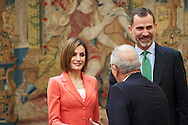 King Felipe VI of Spain and Queen Letizia of Spain attend the Ceremony to mark the bicentennial of the founding of the Council of the Greatness of Spain at Palacio de El Pardo on June 16, 2015 in Madrid