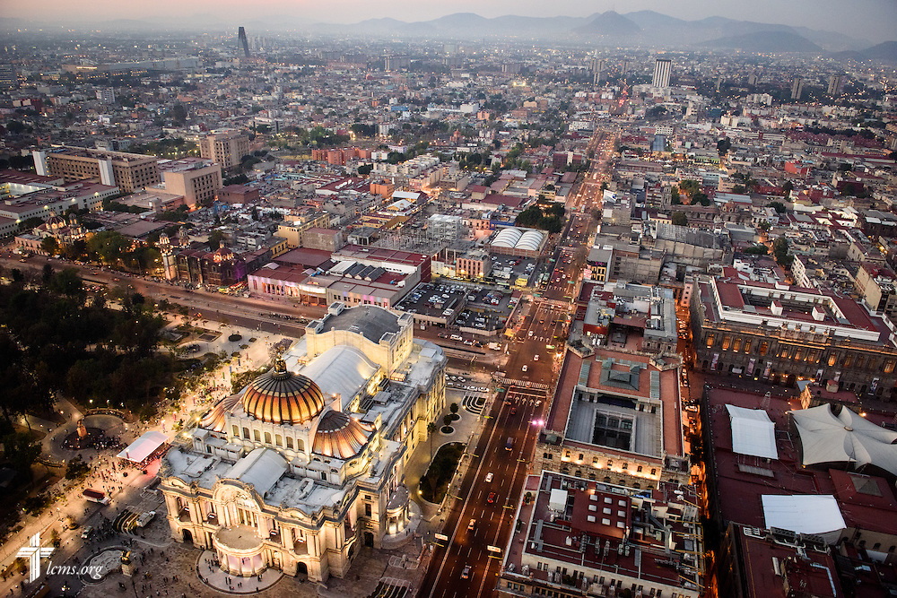 Night falls on Sunday, Feb. 14, 2016, in Mexico City, Mexico. LCMS Communications/Erik M. Lunsford