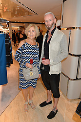GILLIAN DE BONO and DAMIAN FOXE at a dinner hosted by Tod's to celebrate the refurbishment of their store 2-5 Old Bond Street, London on 15th September 2016.