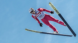 28.01.2017, Casino Arena, Seefeld, AUT, FIS Weltcup Nordische Kombination, Seefeld Triple, Skisprung, im Bild Maxime Laheurte (FRA) // Maxime Laheurte of France in action during his Competition Jump of Skijumping of the FIS Nordic Combined World Cup Seefeld Triple at the Casino Arena in Seefeld, Austria on 2017/01/28. EXPA Pictures © 2017, PhotoCredit: EXPA/ JFK