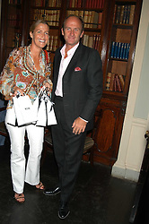 MISS INDIA HICKS and DAVID FLINT WOOD at the Tatler Summer Party in association with Moschino at Home House, 20 Portman Square, London W1 on 29th June 2005.<br /><br />NON EXCLUSIVE - WORLD RIGHTS