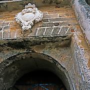El Morro fort (detail of main gate..San Juan, Puerto Rico
