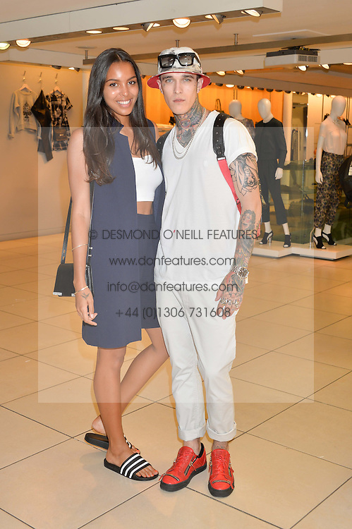 Singer ARLISSA and JIMMY Q at the French Connection #NeverMissATrick Launch Party held at French Connection, 396 Oxford Street, London on 23rd July 2014.