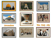 9 Image Collage of Jerusalem, Israel