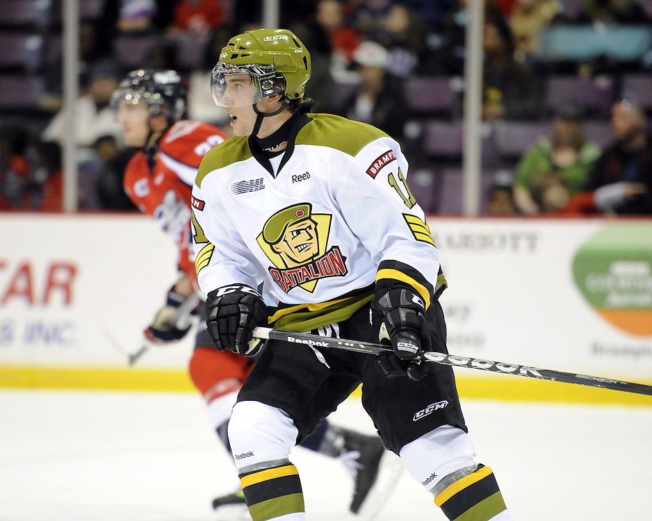 Patrik Machac of the Brampton Battalion. Photo by Aaron Bell/OHL Images