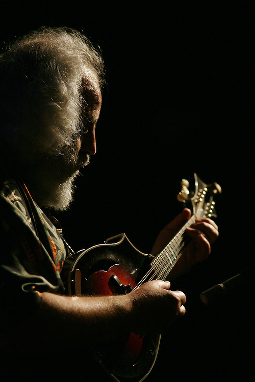 BREVARD, NC - SEPTEMBER 12 : David Grisman performs with his Quintet in the Mountain Song Festival at The Brevard Music Center on September 12, 2009,  in Brevard, North Carolina, USA. (Photo by Logan Mock-Bunting/Getty Images)