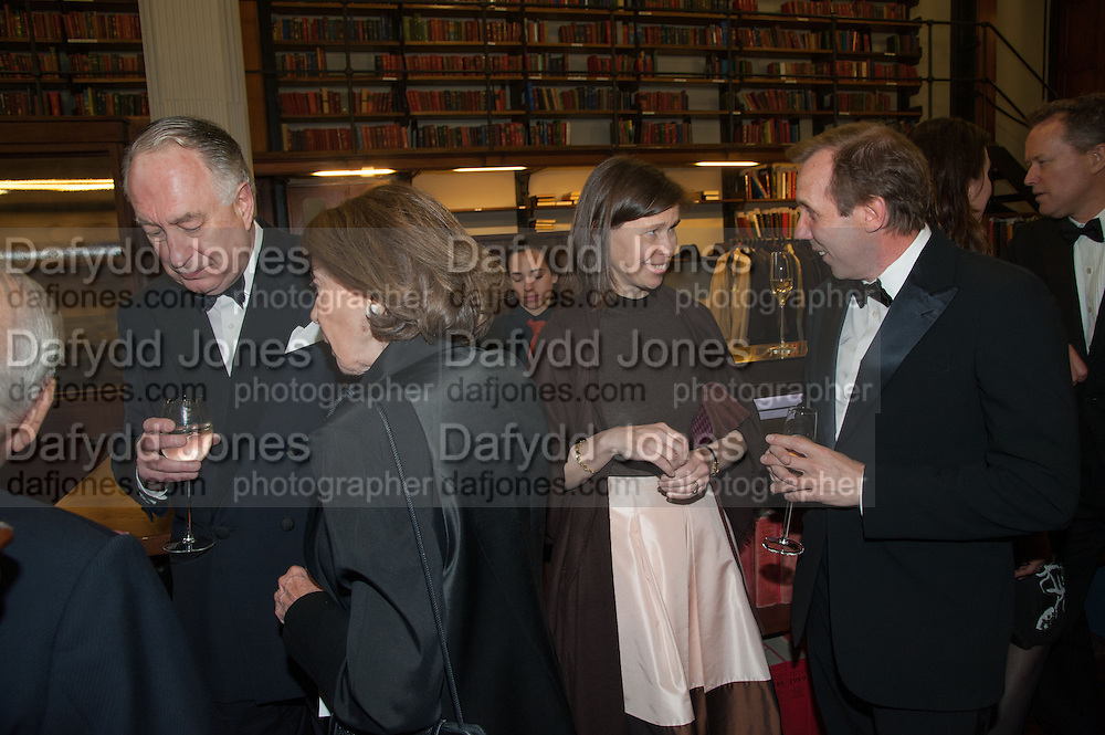 LADY SARAH CHATTO; DAVID DAWSON, The London Library Annual  Life in Literature Award 2013 sponsored by Heywood Hill. The London Library Annual Literary dinner. London Library. St. james's Sq. London. 16 May 2013.