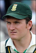 Graeme Smith after the final day day of the fourth Test at the Oval on the 11th of August 2008..England v South Africa.Photo by Philip Brown.www.philipbrownphotos.com