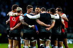 Ben Te'o of England takes part in a huddle - Mandatory by-line: Robbie Stephenson/JMP - 10/11/2018 - RUGBY - Twickenham Stadium - London, England - England v New Zealand - Quilter Internationals