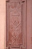 Masonic door in San José de las Lajas, Mayabeque, Cuba.