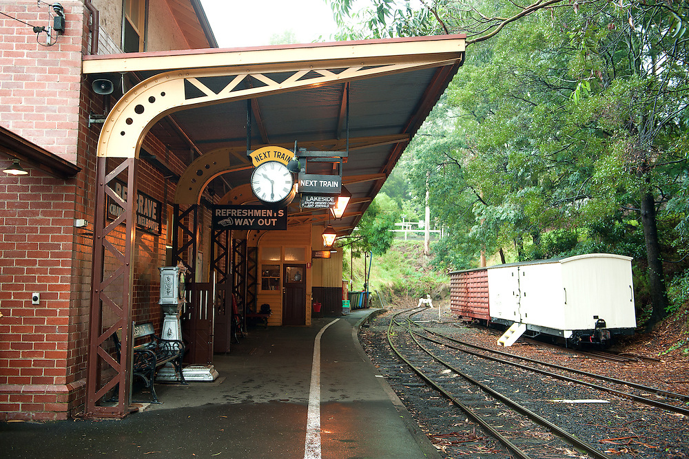 Puffing Billy Train Station at East of Melbourne