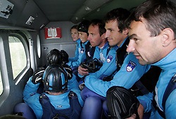 Parachuters at training, on September 21, 2005, in Lesce-Bled, Slovenia. (Photo by Vid Ponikvar / Sportal Images)