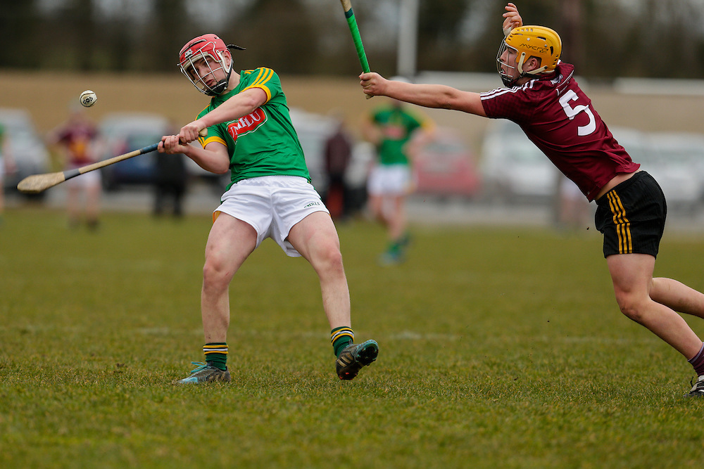 Leinster MHC at Dunganny, Trim, 12th March 2016<br /> Meath vs Westmeath<br /> David Murtagh (Meath) & James Bermingham (Westmeath)<br /> Photo: David Mullen /www.cyberimages.net / 2016