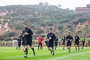 ESTEPONA - 04-01-2016, AZ in Spanje 4 januari, AZ speler Robert Muhren, AZ speler Rajko Brezancic, AZ speler Alireza Jahanbakhsh