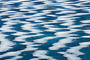Pattern of ice and snow on Knigh tLake due to strong winds<br /> Waterton Lakes National Park<br /> Alberta<br /> Canada