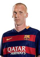 Spain - Liga BBVA 2015-2016 / <br /> ( Fc Barcelona ) - <br /> Jeremy Mathieu
