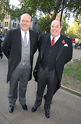 Left to right, the HON.RUPERT SOAMES and the HON.NICHOLAS SOAMES at the wedding of Clementine Hambro to Orlando Fraser at St.Margarets Westminster Abbey, London on 3rd November 2006.<br />