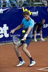 June 18, 2018 - L'Aquila, Italy - Roberto Quiroz during match between Roberto Quiroz (ECU) and Gianluigi Quinzi (ITA) during day 3 at the Internazionali di Tennis Città dell'Aquila (ATP Challenger L'Aquila) in L'Aquila, Italy, on June 18, 2018. (Credit Image: © Manuel Romano/NurPhoto via ZUMA Press)