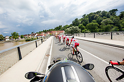 Adria Mobil Cycling Team on the bridge near Gornja Radgona during 1st Stage of 25th Tour de Slovenie 2018 cycling race between Lendava and Murska Sobota (159 km), on June 13, 2018 in  Slovenia. Photo by Vid Ponikvar / Sportida