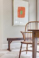 Stamford home, kitchen vignette. Interior design by Jeffrey Kilmer Design.