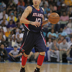 05 November 2008: Atlanta Hawks guard Mike Bibby (10) in action during the first half of a NBA game between the New Orleans Hornets and the Atlanta Hawks at the New Orleans Arena in New Orleans, LA..