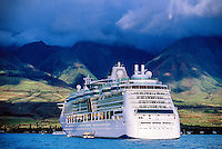 "Royal Caribbean cruise ship ""Radiance of the Seas"" in the port of Lahaina, Hawaii, USA"