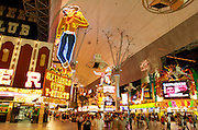 Neon signs at the Fremont Street Experience.  Las Vegas, Nevada USA