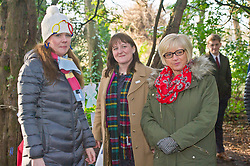 Pictured: Reona Stewart (Nursery Teacher) kept a watchful eye over her charges when the Minister and Janice McInnes, Head of Early Years city of Edinburgh Council joined the outdoor fun<br /> Minister for Early Years and Childcare, Maree Todd today met a kindergarten class taking part outdoor learning at Luariston Castle Edinburgh.<br /> <br /> <br /> Ger Harley | EEm 22 February 2018