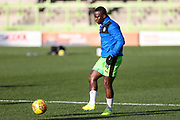 Forest Green Rovers Drissa Traoré(4) warming up during the EFL Sky Bet League 2 match between Forest Green Rovers and Cheltenham Town at the New Lawn, Forest Green, United Kingdom on 25 November 2017. Photo by Shane Healey.