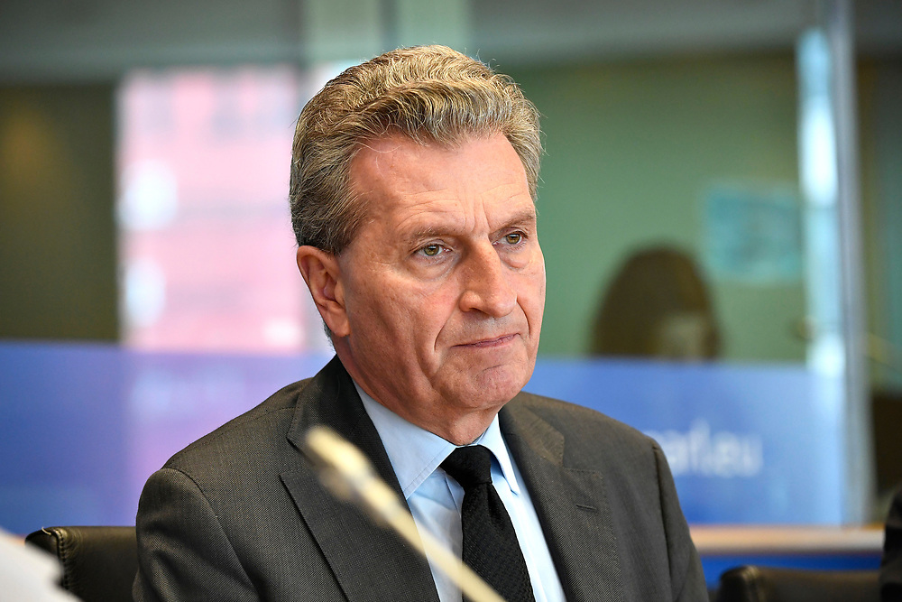 12 May 2017, 123rd Plenary Session of the European Committee of the Regions <br /> Belgium - Brussels - May 2017 <br /> <br /> G&uuml;nther H. Oettinger, Commissioner for Budget and Human Resources