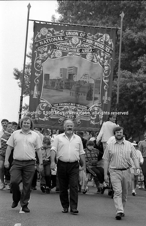 Brodsworth Branch banner. 1990 Yorkshire Miner's Gala. Rotherham.