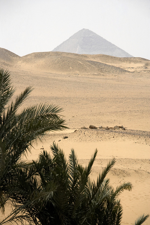 Pyramids of Dahshur in the Sahara Desert, Egypt