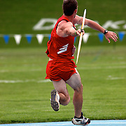 A decathlete hurls the javelin during the Drake Relays.  photo by david petersonDes Moines, Ia., April 25, 2009 - DRAKE RELAYS PHOTOGRAPH BY DAVID PETERSON -