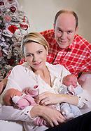 Prince Albert & Princess Charlene Present Twins