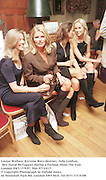 Louise Wallace, Kirstine Ross-Skinner, Julie Lindsay, Mrs David McTaggart during a Fashion Show.The Vale. London SW3.17/9/97. film 97733f17<br />