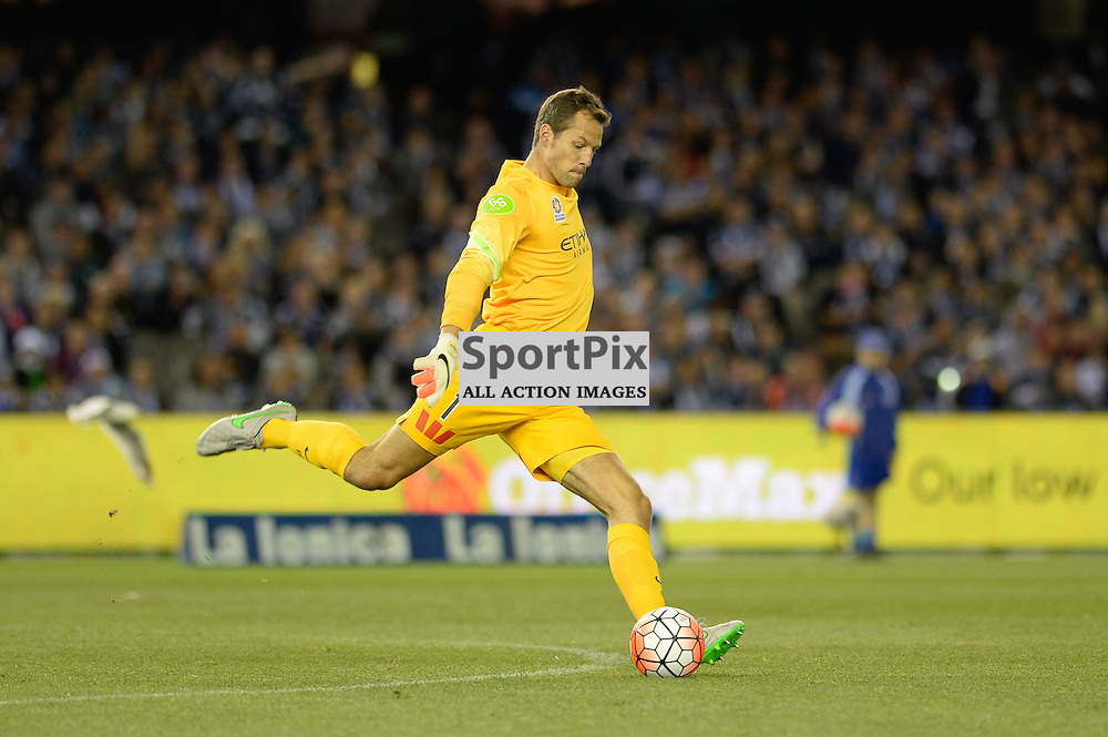"""Thomas Sorensen (GK) of Melbourne City - Hyundai A-League - October 17th 2015 - ROUND 2- Melbourne Victory FC v Melbourne City FC in the first derby for the 2015 season with a 3:2 win to Victory on the 90"""" - © Mark Avellino 