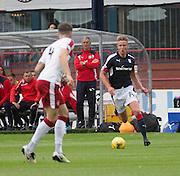Dundee's Mark O'Hara runs at Rangers' Rob Kiernan - Dundee v Rangers, Ladbrokes Scottish Premiership at Dens Park<br /> <br />  - © David Young - www.davidyoungphoto.co.uk - email: davidyoungphoto@gmail.com