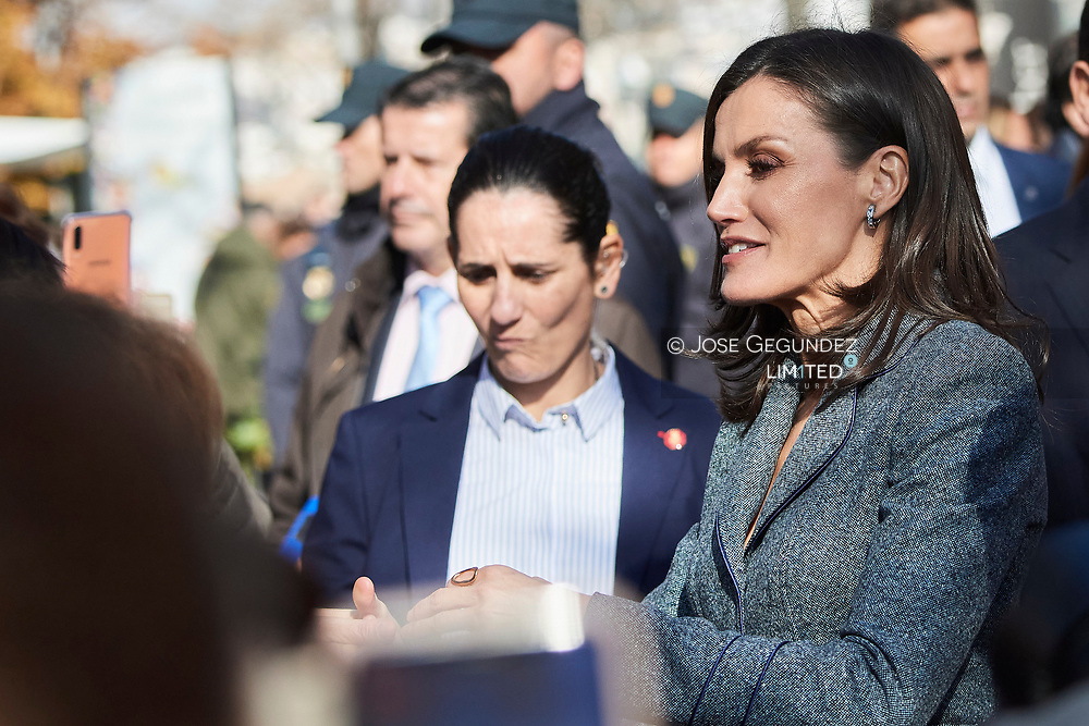 Queen Letizia of Spain attends the opening of Exhibition 'Zirid Granada and the Berber universe' at Carlos V Palace, La Alhambra on December 5, 2019 in Madrid, Spain