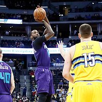 04 March 2017: Charlotte Hornets forward Michael Kidd-Gilchrist (14) takes a jump shot during the Charlotte Hornets 112-102 victory over the Denver Nuggets, at the Pepsi Center, Denver, Colorado, USA.
