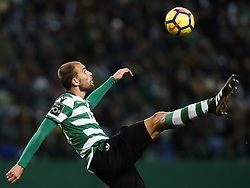 December 1, 2017 - Lisbon, Portugal - Sporting's forward Bas Dost in action during Primeira Liga 2017/18 match between Sporting CP vs CF Belenenses, in Lisbon, on December 1, 2017. (Credit Image: © Carlos Palma/NurPhoto via ZUMA Press)